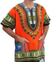 Raan Pah Muang RaanPahMuang Unisex African Bright Dashiki Cotton Shirt Variety Colors