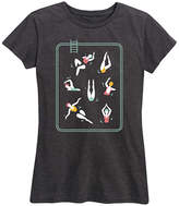 Pool' Instant Message Women's Women's Tee Shirts HEATHER - Heather Charcoal Swimmers in Pool Relaxed-Fit Tee - Women & Plus