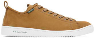 Paul Smith Tan Suede Miyata Sneakers