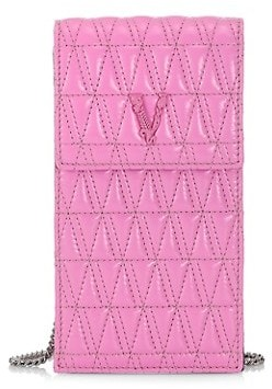 Versace Virtus Quilted Leather Phone Pouch