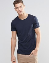 Boss Orange By Hugo Boss T-shirt With Crew Neck In Navy