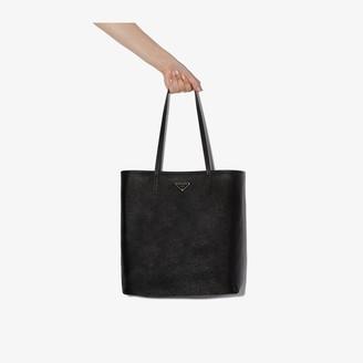 Prada Black Large Saffiano Leather Tote Bag