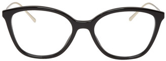 Prada Black and Gold Round Glasses