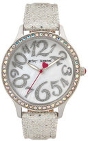 Betsey Johnson Disco Time Silver Watch