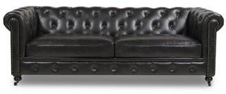 """Charlton Home Kreitzer 38"""" Rolled Arms Sofa Charlton Home Fabric: Vintage Dark Brown Velvet"""