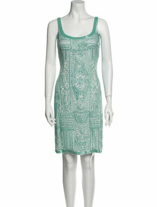 Oscar de la Renta Silk Knee-Length Dress White