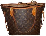 Louis Vuitton Neverfull leather handbag