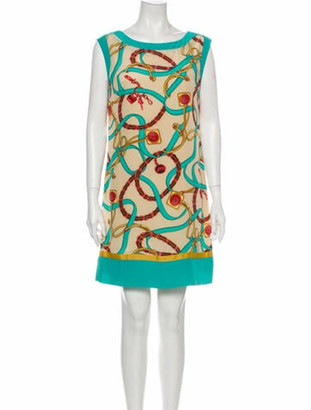 Celine Printed Mini Dress