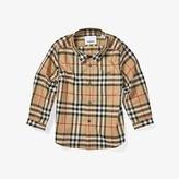 Burberry Fredrick Long Sleeve Pocket Shirt (Infant/Toddler) (Archive Beige) Boy's Clothing