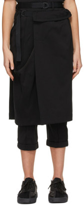 Y-3 Black Nylon Dual Trousers