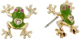 Betsey Johnson Jungle Book Frog Stud Earrings