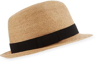 Helen Kaminski Avara Raffia Straw Fedora Hat