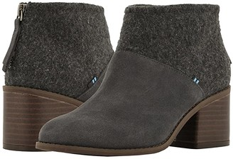 Toms Lacy (Forged Iron Grey Suede/Felt Mix) Women's Boots