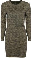 Dex Marled Printed Sweater Dress