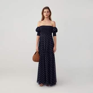 Fame & Partners Smocked Off Shoulder Dress