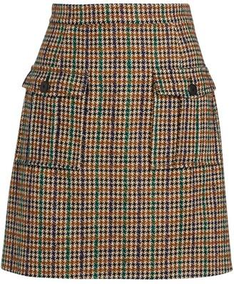 Claudie Pierlot Check Mini Skirt