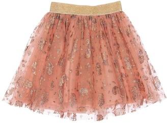 Wheat All Over Snow White Tulle Skirt