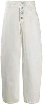 MM6 MAISON MARGIELA high-waisted wide leg jeans