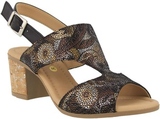 Spring Step Leather Slingback Sandals - Fiorentina