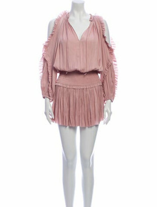 Ulla Johnson V-Neck Mini Dress Pink