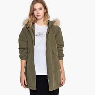 La Redoute Collections Maternity Parka with Faux Fur Hood and Pockets