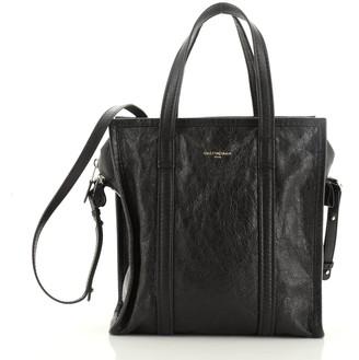 Balenciaga Bazar Convertible Tote Leather Small