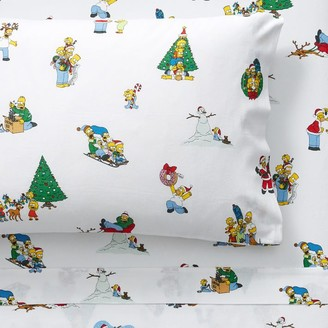 Pottery Barn Teen The Simpsons Holiday Flannel Sheet Set