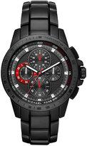 Michael Kors Men's Chronograph Ryker Black Ion-Plated Stainless Steel Bracelet Watch 43mm MK8529
