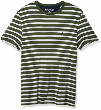 Nautica Men's Crewneck Striped Jersey T-Shirt