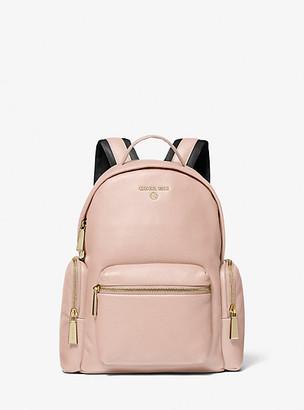MICHAEL Michael Kors MK Nicks Small Pebbled Leather Backpack - Soft Pink - Michael Kors