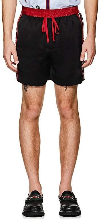 Gucci Men's Logo Tech-Twill Shorts
