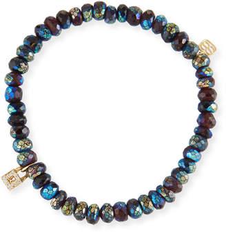 Sydney Evan Metallic Garnet & Diamond Lock Bracelet