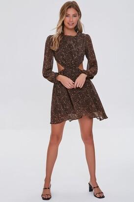 Forever 21 Paisley Cutout Mini Dress