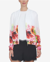 CeCe Floral-Print Bomber Jacket