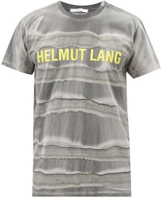 Helmut Lang Mega Marble-dyed Cotton-jersey T-shirt - Black Grey