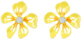 Betsey Johnson Floral Crystal Stud Earrings