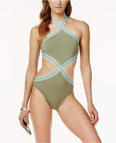 Vince Camuto Sea Band High-Neck Monokini One-Piece Swimsuit Women's Swimsuit