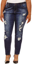 Boutique + + 31 Embellished Pocket Skinny Fit Jeans-Plus