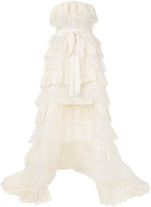 ZUHAIR MURAD Ruffle Asymmetric Dress