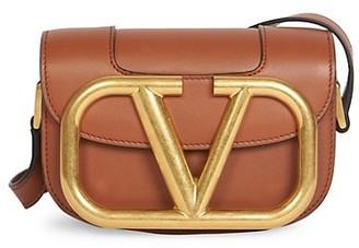 Valentino Small Supervee Leather Saddle Bag