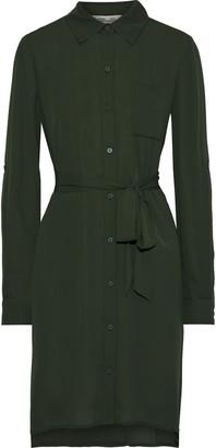 Diane von Furstenberg Prita Belted Crepe De Chine Shirt Dress