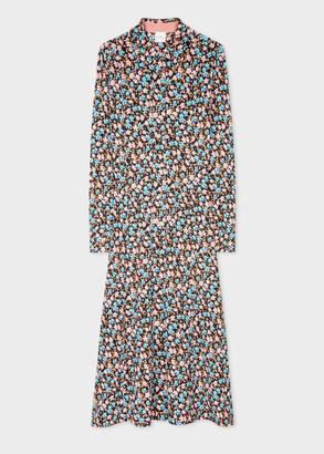 Paul Smith Women's Light Pink 'Rizo Floral' Shirt Dress