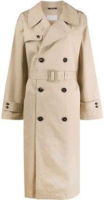 Maison Margiela Oversized Double-Breasted Trench Coat