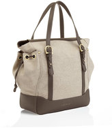 Marie Chantal Leather and Canvas Baby Bag