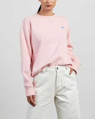 Polo Ralph Lauren Women's Pink Sweats - LS Pullover - Size S at The Iconic