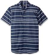 Slate & Stone Men's Bates Short Sleeve Point Collar Shirt