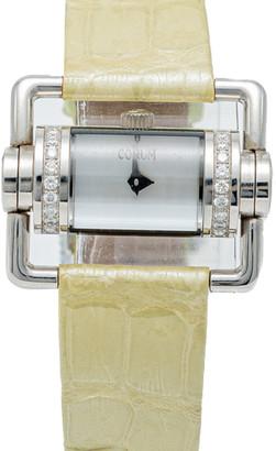 Corum White Mother Of Pearl Horizontal Diamond Steel Women's Watch