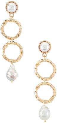 Ettika Hammered Drop Earrings
