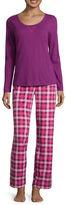 SLEEP CHIC Sleep Chic Knit Pant Pajama Set