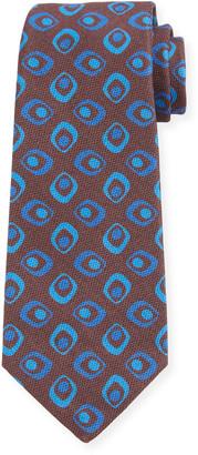Kiton Men's Connected Circles Silk Tie